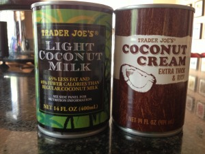 Trader Joe's offers two kinds. The one on the right is richer, but also has 75% saturated fat.