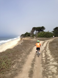 Riding more than 16 miles along the coast.