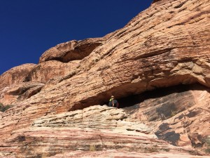 Climbing in Red Rock Canyon.