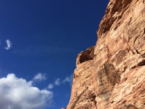Blue skies, red rocks.