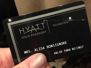 Have Hyatt Diamond membership, will travel.
