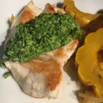 chicken with spinach pesto